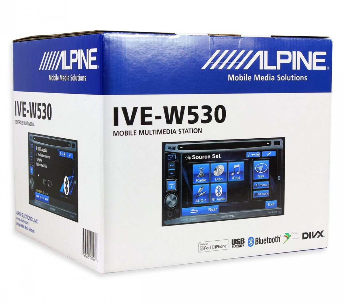 Автомагнитола ALPINE IVE-W530BT